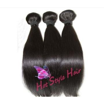 "18/20/22 Hair Extension With 14"" Lace Closure Peruvian Virgin Straight Hair Weft"