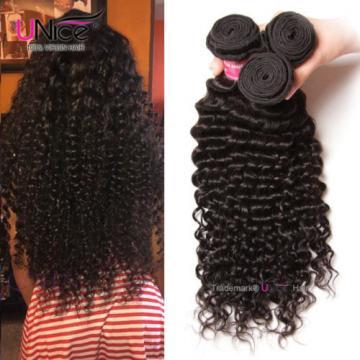 100g 300g 100% Virgin Brazilian Deep Curly Wave Hair Peruvian Human Hair Bundles