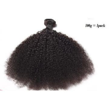 100% Virgin-Brazilian-Peruvian-Malaysian Afro Kinky Curly Hair Natural Black100g