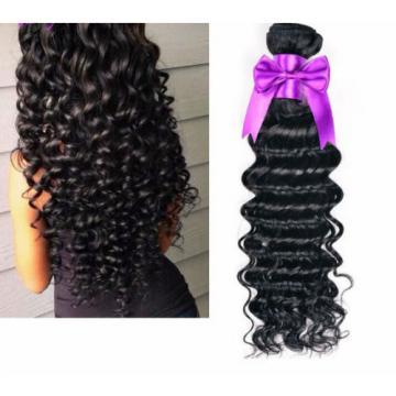 "100% Virgin-Brazilian-Peruvian-Malaysian Deep Wave Wavy-Human-Hair 100g 10""-28"""