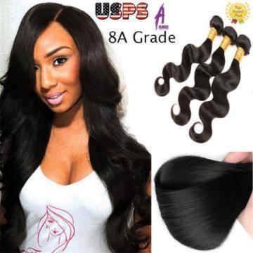 Brazilian Peruvian Indian Hair Human Hair Extensions 3 Bundles 300g 8A US STOCK