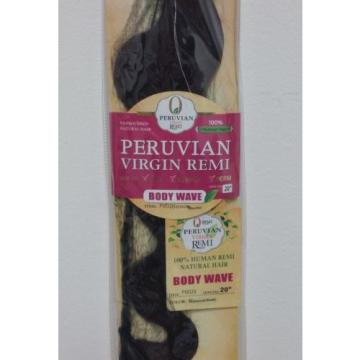 "CHADE Peruvian virgin remi 100% Human Hair 20"" Natural Black color, Single Pack"