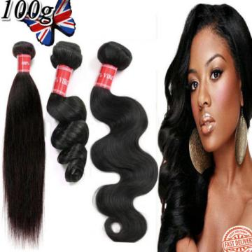 100g Brazilian Peruvian Real Virgin Human Hair Extensions Wefts 7A Weave