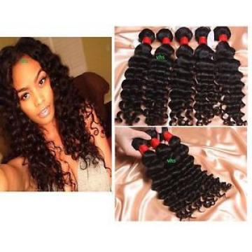 100% Pure virgin Brazilian/Peruvian/Malaysian deep wave human hair Weave