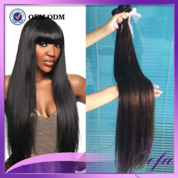 100%Virgin Peruvian Straight  Human Hair Extension black weft hair 1pc bundle 7A