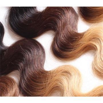 """100% Finest Peruvian Ombré Virgin Human Hair 1B/4/27 Wavy 14"""" 16"""" 200g"""
