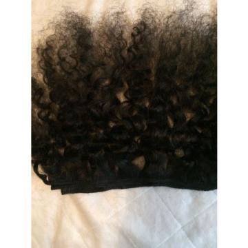 100% Virgin Brazilian Peruvian Malaysian kinky Curly Human Hair Weave 1 Bundle