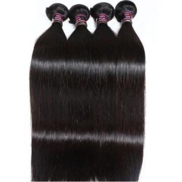 300g STRAIGHT A*** Brazilian Peruvian Real Virgin Human Hair Extensions 7A Weave