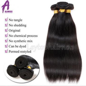 8A Brazilian Peruvian Indian Hair Human Hair Extensions Weave 300g 3 Bundles
