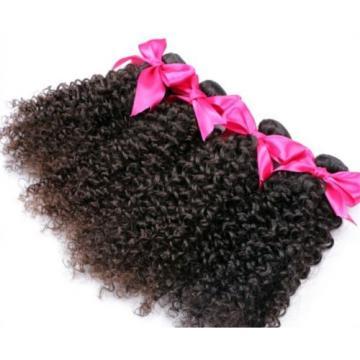 100% Real Malaysian/Brazilian/Peruvian Kinky Curly Virgin Human Hair Weave 1pac