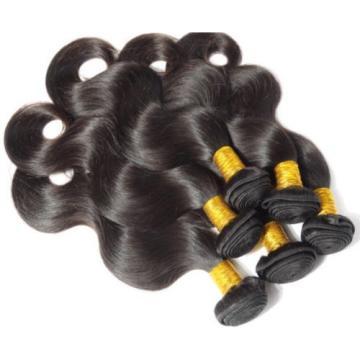 "100% Finest Peruvian Unprocessed Virgin Hair Wavy Weave 1B 16"" 18"" 20"" 20"" 400g"