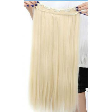 Peruvian Virgin Human Hair Extensions or One Piece Clip-In - Blond or Black - 7A