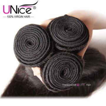 UNice Peruvian Virgin Hair Straight 3 Bundles Unprocessed Human Hair Extensions