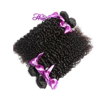 100% Virgin-Brazilian-Peruvian-Malaysian Kinky-Curly-Human-Hair Weave, 3 Packs