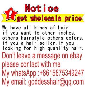 "18"" — Grade 8A Virgin Brazilian/Peruvian/Indian Human Hair Extensions Body Wave"