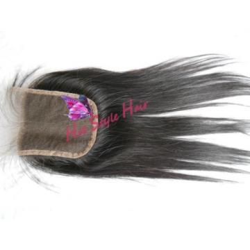 8/8/8&8 Peruvian 1B Black Straight Virgin Hair Extension &Lace Closure Hair Weft