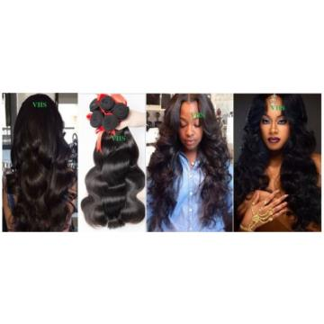 100% 7A unprocessed Virgin Brazilian Peruvian Malaysian human hair 100g/300g-£25