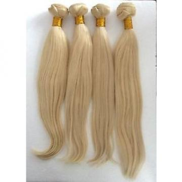 "100g(1pc) 16"" 100%  Peruvian VIRGIN Human Hair Blonde 613 Straight, GRADE 6A"