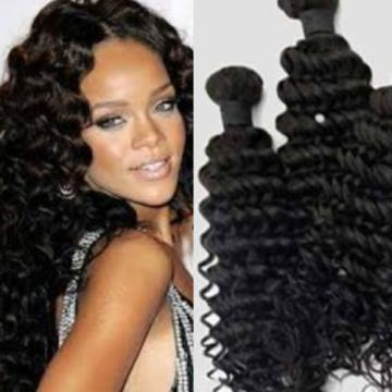 100%Virgin Peruvian Deep Wave Human Hair Extension unprocessed weft Bundle100g7A