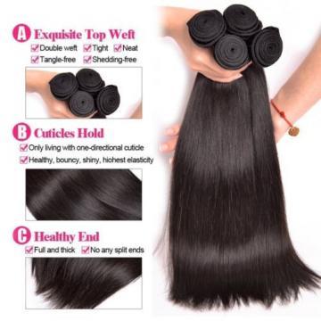 UNice Hair 7A Grade Peruvian Straight Virgin Hair 3 Bundles, 100% Unprocessed 8