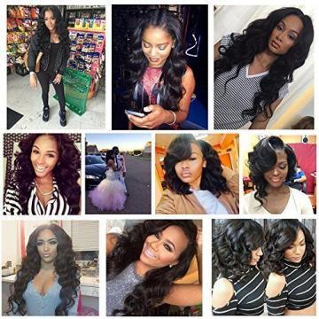 "Hair Peruvian 3 Bundles Body Wave 5A Unprocessed Virgin Human Weave8"" 10"" 12"""