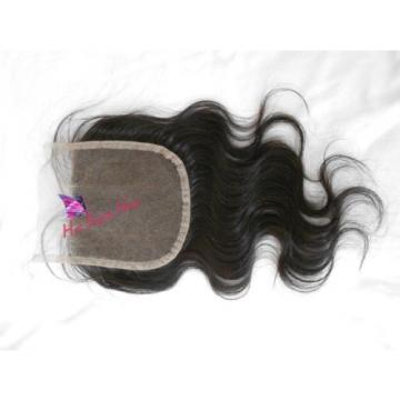 "14"" Top Lace Closure Unprocessed Peruvian Virgin Hair 3 Way Part Closure 4x4"