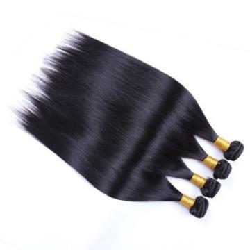 Yaweida Hair 7A Peruvian Virgin Straight Hair Weave 4 Bundles 100% Unprocessed
