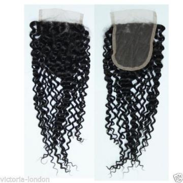 BRAZILIAN PERUVIAN LACE CLOSURE VIRGIN REMY HUMAN HAIR 3 PART MIDDLE PARTING 4x4