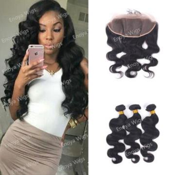 Ear to Ear 13x4 Lace Frontal Body Wave with Peruvian Virgin Human Hair 3Bundles