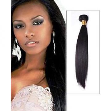 "100g 18"" Brazilian Peruvian Real Virgin Human Hair Extensions Wefts 7A Weave"