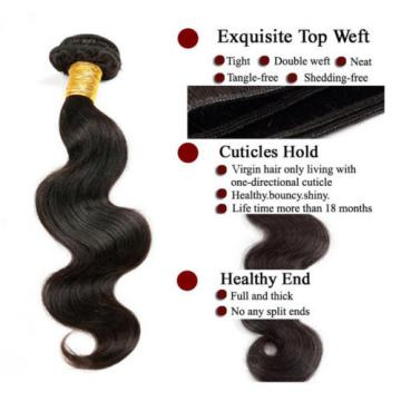 Peruvian Body Wave Real Virgin Human Hair ONE Bundle Wavy Lovely Remy Hair 7A