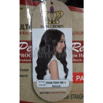Tuneful Raw Unprocessed Peruvian Virgin Hair Straight Wave 7PC 1 Pack Finish+Cls