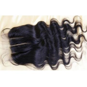 3 Ways Parting 100% Peruvian LaceTop Closure Virgin Human Hair Extension 4x4  5A