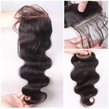9A Peruvian Hand Made Human Hair Lace Closure 4 inch by 4 inch 4''X4''