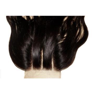 3 Ways Parting 100% Peruvian LaceTop Closure Virgin Human Hair Extension 4x4  5A