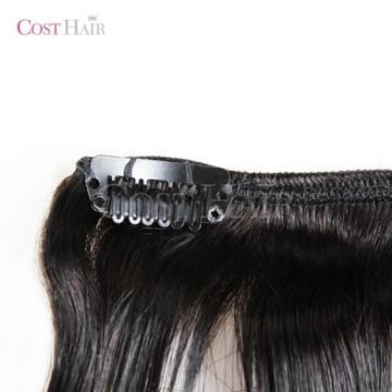 [Grade 7A] 100% Peruvian Virgin Human Hair 10 PCS Clip-In Full Head Set