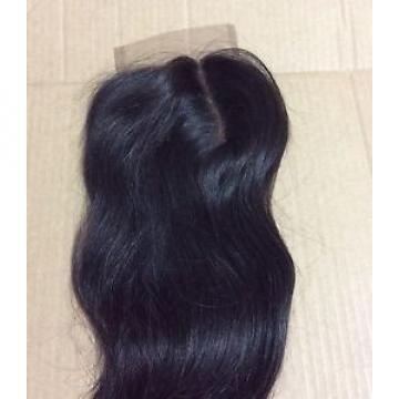 "14"" Peruvian Virgin Lace closure (4*4) Right parting human hair straight,1b,6A."