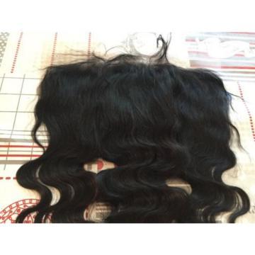 """13x6"""" Peruvian Virgin Hair Lace Frontal, Free Parting, Natural Black."""
