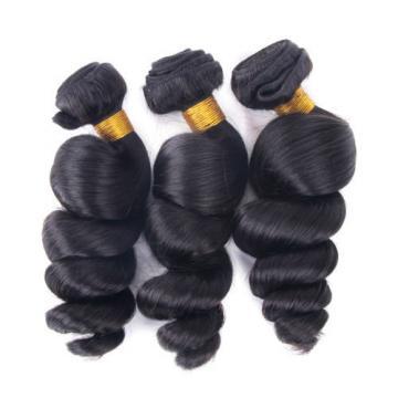 7A High Quality Nice Looking 3Bundles Virgin Hair Peruvian Loose Wave