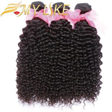7A Virgin Brazilian/Peruvian/Malaysian/Indian Kinky Curly Human Hair 100g/bundle