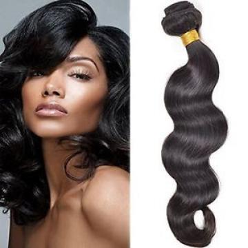 "100g 18"" Brazilian Peruvian Real Virgin Human Hair Extensions Wefts Body Weave"