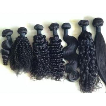 100% Virgin unprocessed Peruvian Human Hair Extension weft bundle 100g black 7A