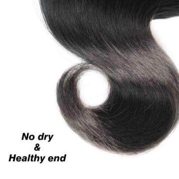 Jaja Hair 7A Peruvian Virgin Body Wave 3 Bundles Natural Black Peruvian Human Be