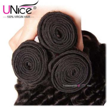 Peruvian Deep Wave Human hair 1 Bundles 8A Virgin Curly Hair Extensions US STock