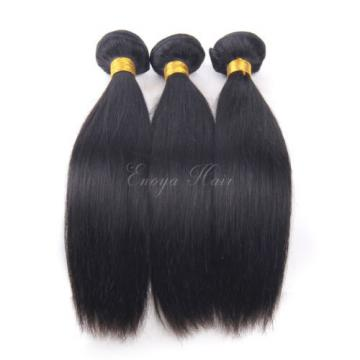 Straight Virgin Peruvian Hair 3 Bundles With 360 Lace Frontal 360 Band Closure
