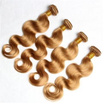Luxury Peruvian Body Wave Honey Blonde #27 Virgin Human Hair Extensions 7A