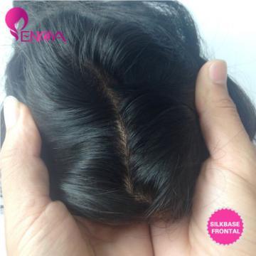 Peruvian Virgin Hair 13X4 Silk Base Closure Frontal with 3 Bundles Loose Wave