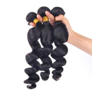 Peruvian Virgin Hair 13X4 Silk Base Closure Frontal with 3 Bundles Loose Wave