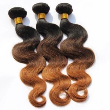 Luxury Body Wave Peruvian Auburn #1B/4/30 Ombre Virgin Human Hair Extensions