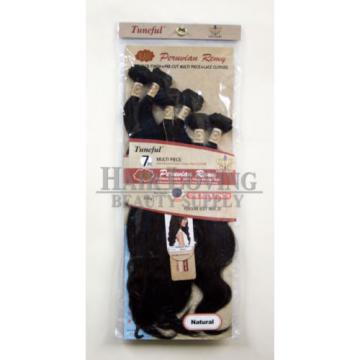 Tuneful Raw Unprocessed Peruvian Virgin Hair Body Wave 7PC 1 Pack Finish+closure